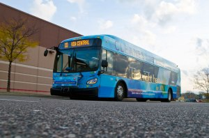 Photo of one of Metro Transit's advanced hybrid buses