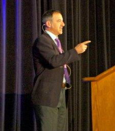 Matt Richtel speaking at the 2015 TZD Conference