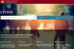 Screenshot of CIVIOS home screen