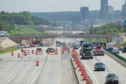 Photo of a work zone