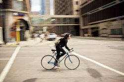 bicyclist in Minneapolis
