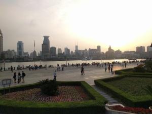 Looking across the Bund in Shanghai